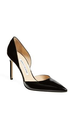 Manolo Blahnik 'Tayler' Pump available at #Nordstrom  If it only were not in leather.
