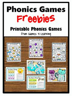 Phonics games freebies http://www.teacherspayteachers.com/Store/Games-4-Learning/Price-Range/Free/Category/Phonics-Games/Order:Most-Recently-Posted