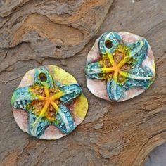 Handmade Polymer Clay Star Fish in Turquoise by KristiBowmanDesign, $10.00