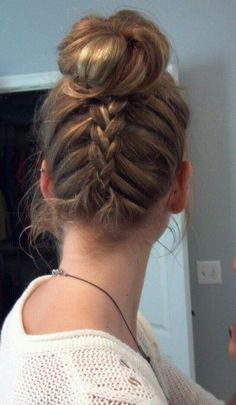 Inverted French Braid Top Knot Tutorial http://sulia.com/channel/beauty-spas/f/e570a4fe-a610-447a-9701-d74c00b1e915/