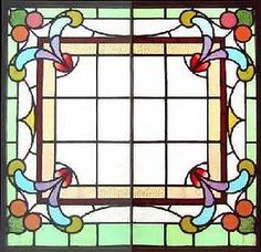stained glass - use the glass as a border with design in middle.