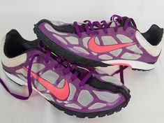 NIKE Track & Feild Waffle Racer Womens Size 9 Purple Runnig Shoes New #Nike #RunningShoes Cleats, Sneakers Nike, Shoes, Fashion, Football Boots, Nike Tennis, Moda, Zapatos, Cleats Shoes
