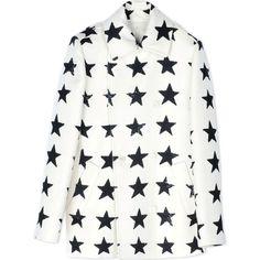 Max Mara Mid-Length Jacket (64 225 UAH) ❤ liked on Polyvore featuring outerwear, jackets, ivory, ivory jacket, long sleeve jacket, white jacket, white winter jacket and maxmara