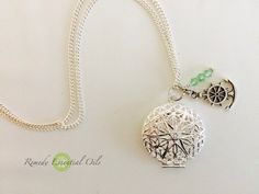 Silver Aromatherapy Necklace with Diffuser Locket with Anchor Charm and Swarovski Crystal Beads in Your Choice of Colour by RemedyEssentialOils on Etsy https://www.etsy.com/listing/267153391/silver-aromatherapy-necklace-with