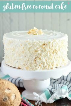 The ultimate dairy free and gluten free Coconut Cake for coconut lovers. It's made with coconut milk, coconut oil, coconut custard and toasted coconut.