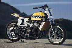 Baddest Race Bike Ever!!!  Kenny Roberts' 2-Stroke TZ750 flattracker