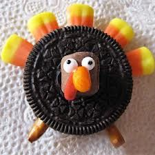 Thanksgiving cookie- How cute is this?-Lissa holiday, thanksgiving turkey, idea, oreo turkey, food crafts, turkey craft, oreos, thanksgiving treats, kid