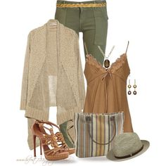 """""""* Dash & Albert Tote * Sage & Browns"""" by hrfost1210 on Polyvore"""