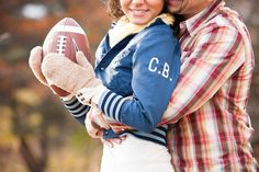 Football anyone! Opposites Attract, Engagement Session, Toronto, Rain Jacket, Windbreaker, Winter Jackets, The Incredibles, Football, Autumn