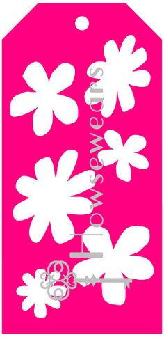 Tag Stencil Scruffy Flowers  8.5 x by Howsewears on Etsy, $5.00