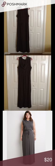 Forever 21 Maxi Dress Gray hooded maxi dress with drawstring waist. Worn once only! Great condition Forever 21 Dresses Maxi