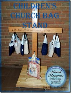 Sewing Bags For Women Church Bags and Stand Catholic Kids, Kids Church, Church Ideas, Church Activities, Children Activities, American Heritage Girls, Childrens Sermons, Vbs Themes, Activity Bags