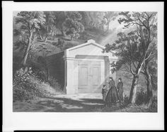 The first resting place of Abraham Lincoln in Oak Ridge Cemetery, from May 4, 1865 to Dec 21, 1865
