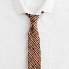 J. Crew Houndstooth tie.    Not all your ties need be silk and/or cotton.