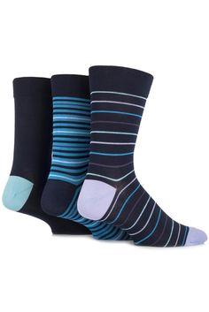 SockShop Gentle Grip Bamboo Striped and Plain Socks £7.99
