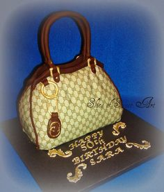 Gucci Purse Cake  Cake by SliceOfSweetArt