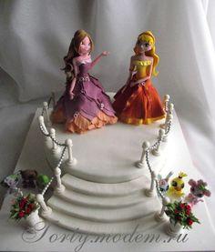 "Торт ""Феи Винкс: Стелла и Флора со зверушками""."