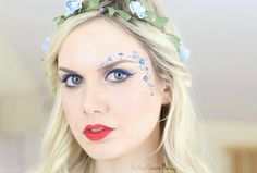 See how to get this lovely floral makeup look here. #festivalmakeup #makeup