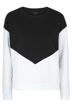 Mono Colour Block Sweatshirt - Topshop