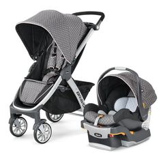 The Chicco Bravo Trio system includes a Bravo #stroller, a Key Fit 30 infant car seat, and a car seat base. The many features available on this product make the Bravo Trio Chicco's number one selling travel system.