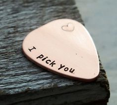 I pick you guitar pick, BEST SELLER on ETSY, Gift for boyfriend, gift for husband, mens gift personalized | Personalized Bracelets | Custom Necklace | Wholesale craft supplies - Turntopretty