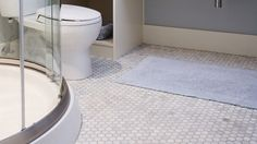 Hexagon mosaic | Give your bathroom a new look with these creative ideas for walls and floors