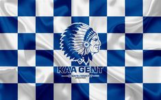 Kaa Gent, Soccer Flags, Custom Football, Custom Flags, Flag Logo, Checkered Flag, Celebrity Wallpapers, Sports Wallpapers, Flag Banners