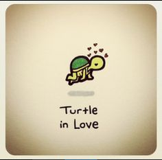 Turtle in Love Cute Turtle Drawings, Cute Animal Drawings, Kawaii Drawings, Easy Drawings, Turtle Sketch, Sweet Turtles, Baby Sea Turtles, Cute Turtles, Kawaii Turtle