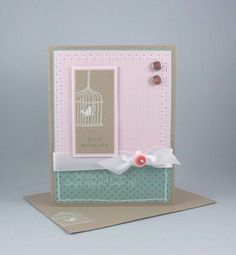 "Uses Stampin' Up!'s ""Happy Moments"" stamp set. A really simple, but sweet card."