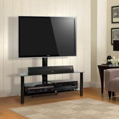 Bell'O Pamari Audio / Video Swivel Stand for TVs up to 46 inch, Black