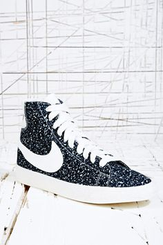 Nike Blazer Mid Deacon Trainers in Black at Urban Outfitters