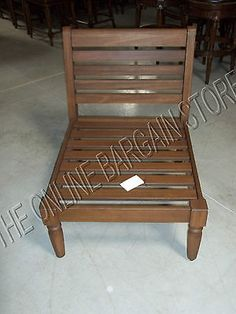Pottery Barn Faraday Outdoor Wood Patio Armless Sectional Chair Frame Accent