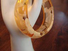 Vintage Groovy Lucite Bangle Bracelet 1960s by CoolFindsShoppe