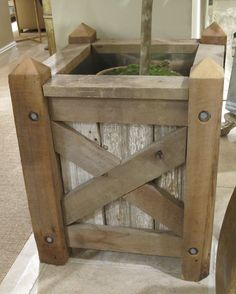 Rustic-version-of-classic-tree-planter-from-Century-Furniture#Repin By:Pinterest++ for iPad#