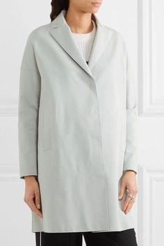 Harris Wharf London - Oversized Stretch Cotton-blend Coat - Sky blue - IT38