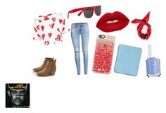"""""""School Outfit"""" by animaljam-rocks21 on Polyvore featuring American Eagle Outfitters, Être Cécile, H&M, Casetify, Urban Renewal, shu uemura, RetroSuperFuture, Essie and back2school"""