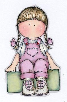 Dibujos. Clipart. Digi stamps - Dolls - Magnolia Girl