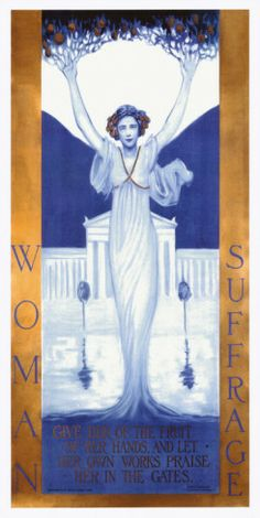 Women's Suffrage Poster by Evelyn Rumsey Cary, circa 1905