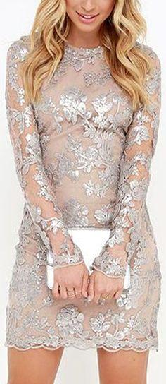 Silver Sequin Dress ❤︎
