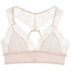 Honeydew Intimates Valerie Bralette (359.490 VND) ❤ liked on Polyvore featuring intimates, bras, white, lacy bras, honeydew intimates, white lace bra, lace racerback bra and lace bra