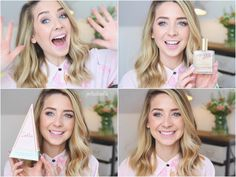 Zoella's new beauty products: Sweet Inspirations Zoella Makeup, Zoella Beauty, Zoella Outfits, Zoe Sugg, British Youtubers, New Hair, Girly Things, Beauty Products, Hair Cuts