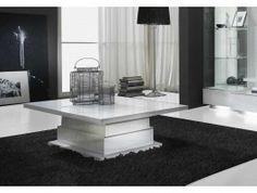 Table basse blanche design Cora
