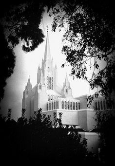 San Diego Temple - I'm getting married here someday.  Why? Because it truly looks like a castle...Look at this picture! It's like coming from the woods straight HOME. <3