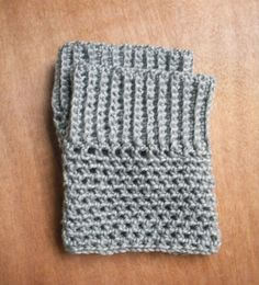 boot cuffs. fast & effecient if you don't want to make the whole leg warmer!