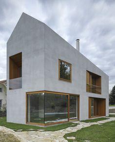 Satteldach aus Beton - Villa in Genf