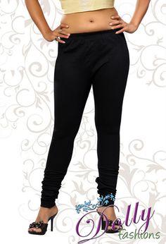 Soft 4-way Lycra Stretchable Legging in Black