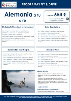 ALEMANIA: Fly and Drive, desde 654 € + tasas ultimo minuto - http://zocotours.com/alemania-fly-and-drive-desde-654-e-tasas-ultimo-minuto-2/