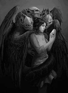 Wow..... I've never found a picture that is such a perfect representation of who I am. This one is beautiful! I feel like I'm seeing myself for the first time...my demons finally have faces.