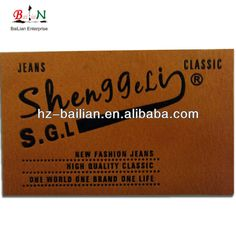 Custom Jeans leather label, leather label for jeans, jeans leather patch $0.10~$5.00