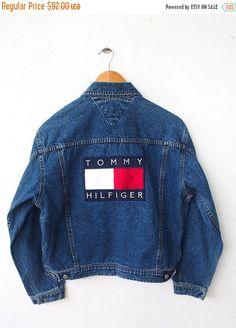 Vintage 90 s TOMMY Hilfiger Big Logo 80 s Hip Hop Embroidery Women... ❤  liked 6b392b66d7f2